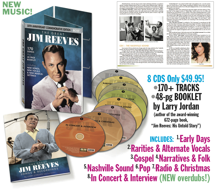 THE GREAT JIM REEVES 8 CD OFFER